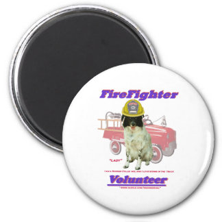 FireFighter Volunteer Lady Magnet