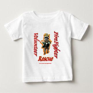 Firefighter Volunteer Raccoon Rescue Baby T-Shirt