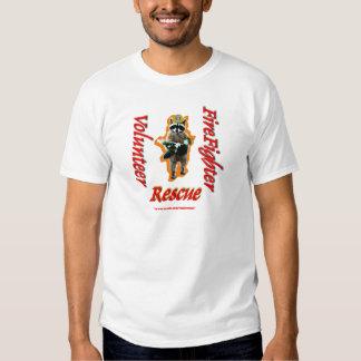 Firefighter Volunteer Raccoon Rescue Tee Shirt