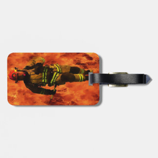Firefighter VS Flames Luggage Tag