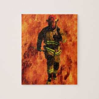 Firefighter VS Flames Jigsaw Puzzle