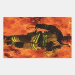 Firefighter VS Flames Sticker