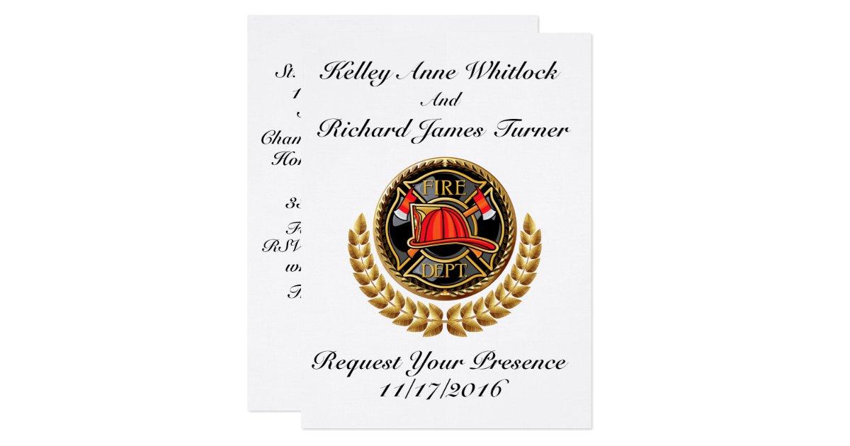 fireman wedding invitations - 28 images - wedding invitations ...