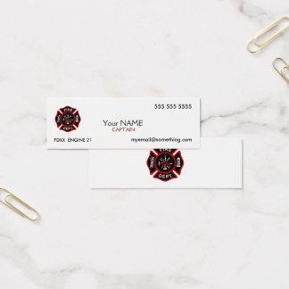 Firefighter White Mini Business Card