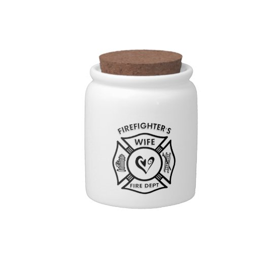 Firefighter Wife Candy Dish
