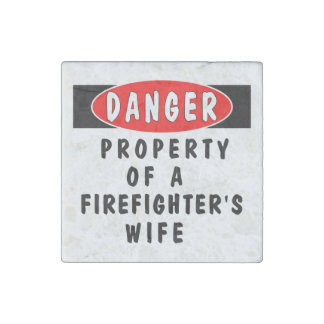 Firefighter Wife Stone Magnet