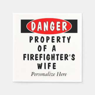 Firefighter Wife Paper Napkins