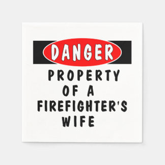 Firefighter Wife Disposable Napkin