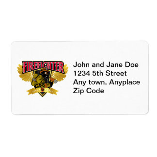 Firefighter Wings Shipping Label