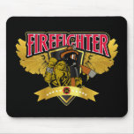 Firefighter Wings Mouse Mat