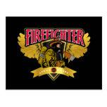 Firefighter Wings Postcard
