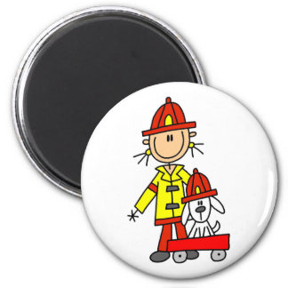 Firefighter with Dalmation Tshirts and Gifts 2 Inch Round Magnet