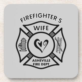 Firefighter Wives of Asheville Fire Dept Beverage Coasters