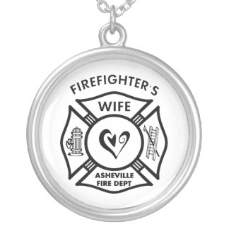 Firefighter Wives of Asheville Fire Dept Silver Plated Necklace