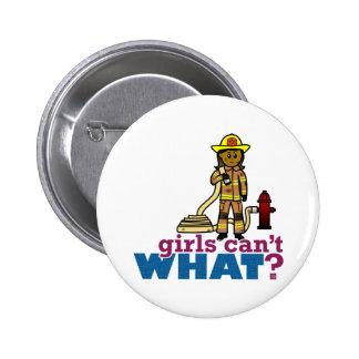 Firefighter Women Pinback Button