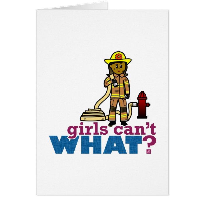Firefighter Women Card
