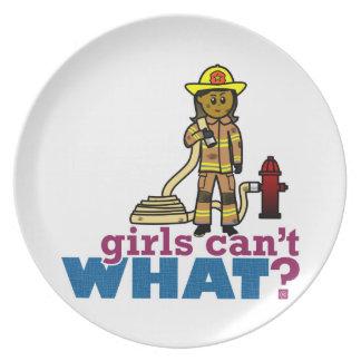 Firefighter Women Dinner Plates