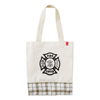 Firefighter Zazzle HEART Tote Bag