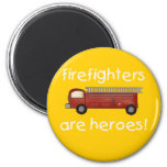 Firefighters Are Heroes T-shirts and Gifts Fridge Magnet
