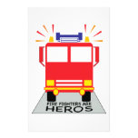 Firefighters Are Heros Stationery