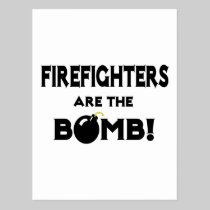 Firefighters Are The Bomb! Postcard