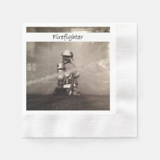 Firefighters At Work Napkin