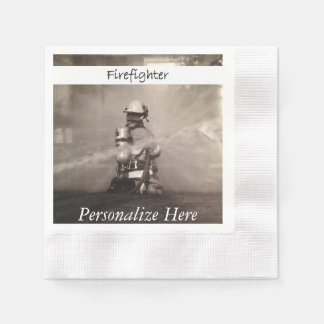 Firefighters At Work Paper Napkin