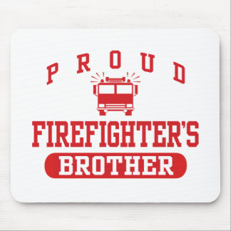 Firefighter's Brother Mouse Pad