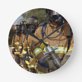 Firefighters Round Wall Clocks