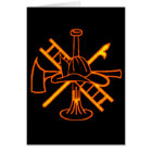 FIREFIGHTERS CREST CARD