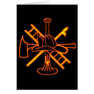 FIREFIGHTERS CREST GREETING CARD