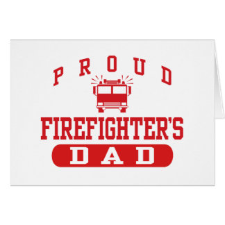 Firefighter's Dad Card