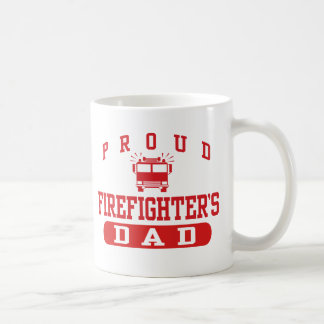 Firefighter's Dad Classic White Coffee Mug