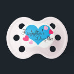 """&quot;Firefighter&#39;s Daughter&quot; Baby Girl Pacifier<br><div class=""""desc"""">Firefighter&#39;s Daughter</div>"""