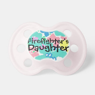 """Firefighter's Daughter"" Baby Girl Pacifier"