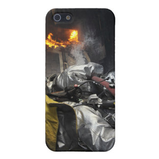 Firefighters extinguish a fire in a training ro cover for iPhone SE/5/5s