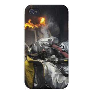 Firefighters extinguish a fire in a training ro iPhone 4 case