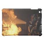 Firefighters extinguish a simulated battery fir iPad mini cases