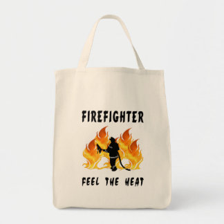 Firefighters Feel The Heat Tote Bags