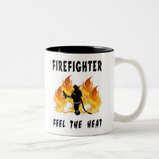 Firefighters Feel The Heat Two-Tone Coffee Mug