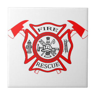 Firefighters Fire Dept logo Gifts Tile