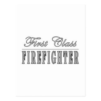 Firefighters : First Class Firefighter Postcard