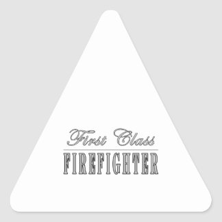 Firefighters : First Class Firefighter Triangle Stickers