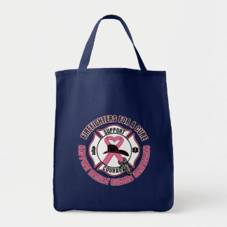 Firefighters For A Cure Breast Cancer Canvas Bags