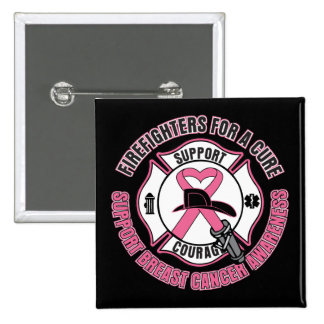 Firefighters For A Cure Breast Cancer Button
