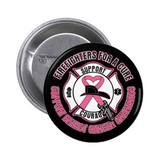 Firefighters For A Cure Breast Cancer Pinback Buttons