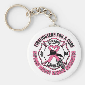 Firefighters For A Cure Breast Cancer Key Chain