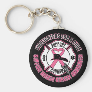 Firefighters For A Cure Breast Cancer Keychains