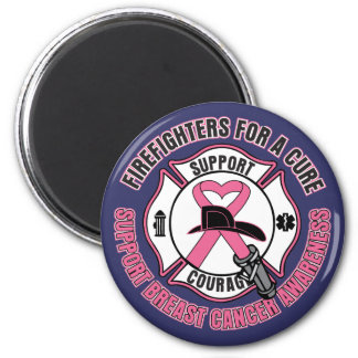 Firefighters For A Cure Breast Cancer Refrigerator Magnet