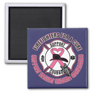 Firefighters For A Cure Breast Cancer 2 Inch Square Magnet